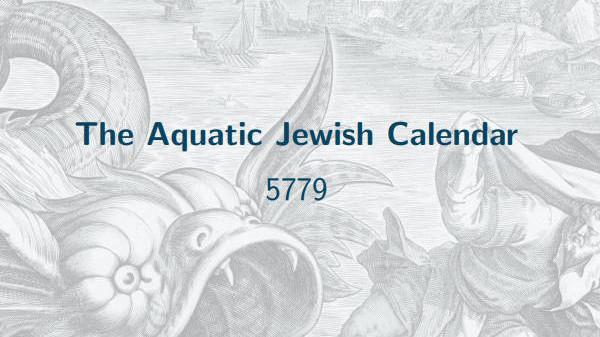 The Aquatic Jewish Calendar